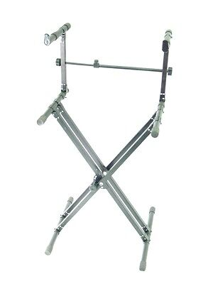 DUAL KEYBOARD STAND - X type - Double Braced Studio NEW! on Rummage