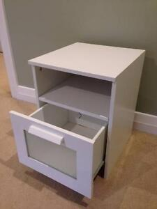 White Ikea Bedside Table Wahroonga Ku-ring-gai Area Preview
