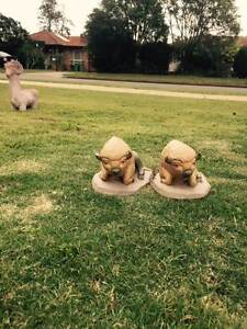 Pair Of Sheep Garden Statues - Solid Concrete Lawnton Pine Rivers Area Preview