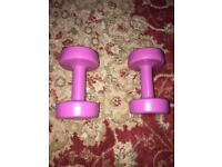 Two DumbBells - Dumb Bells 1.5 kg Each - Moving Abroad Only £2 - Half Price Now to clear