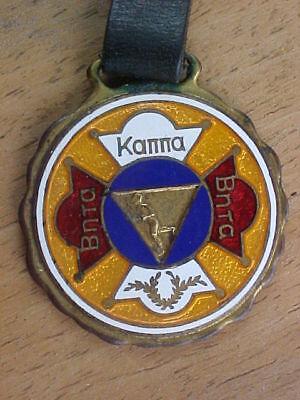 Vintage Watch Fob Greek Fraternity     Beta Kappa Beta