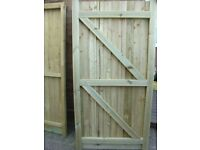 FULLY TANISED TREATED 6X3 GARDEN GATES OR ANY SIZE REQUIRED