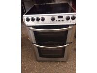 £125.26 Hotpoint sls/Black ceramic electric cooker+60cm+3 months warranty for £125.26
