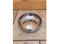 Ten silver coloured bowls