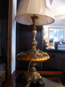 antique lamps,brass, blown glass with pewter West Island Greater Montréal image 2