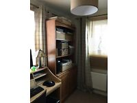2 piece cupboard and bookcase unit