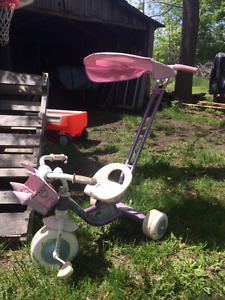 2 in 1 push Princess trike