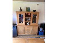 Light Oak Sideboard Display Cabinet