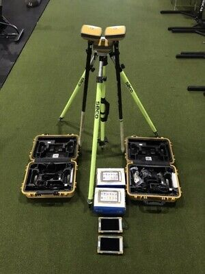 Topcon Fc5000 Base Station With 2 Hiper Sr Rovers Tripod And Carbon Fiber Rods