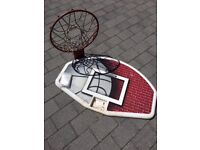 Basketball hoop with backboard, together with all fixings. For collection.