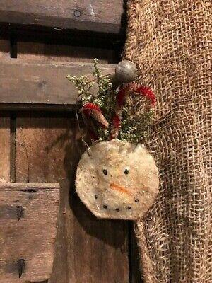 10 Primitive Assorted Santa Penguin Snowman Elf Metal Rim Hang Tags Gift Ties