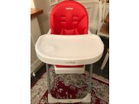 Peg Perego Reclining High Chair with Baby Prima Pappa Zero 3 for sale