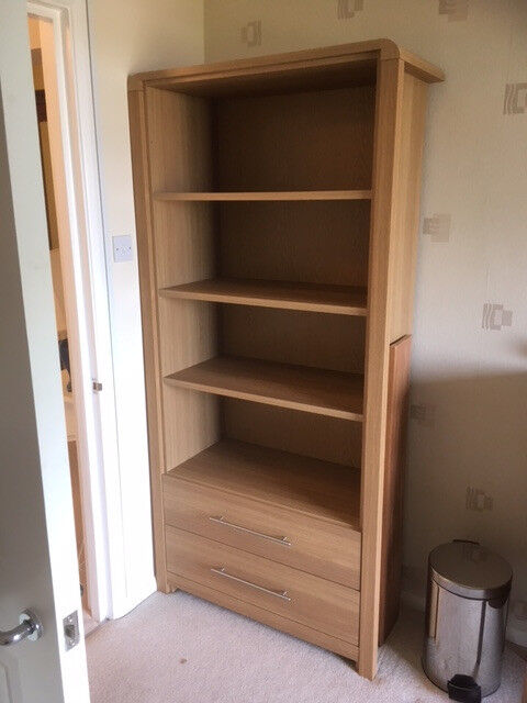 Bookcase, with 4 shelves and 2 drawers