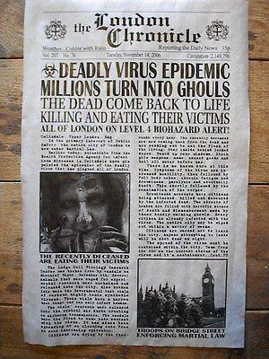 (231) NOVELTY POSTER HALLOWEEN ZOMBIE WALKING DEAD MASS MURDER LONDON ENG 11x17