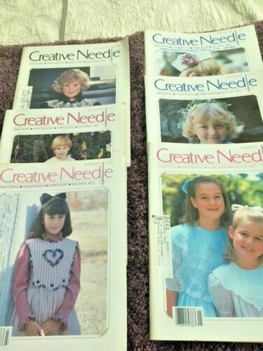 SMOCKING CREATIVE NEEDLE MAGAZINE COMPLETE YEAR 1991 W/PATTERNS INTACT