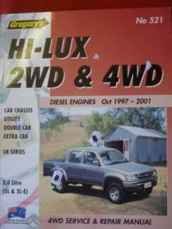 TOYOTA HILUX 2WD & 4WD DIESEL WORKSHOP SERVICE MANUAL c2001