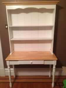 For Sale: White country style open hutch buffet - $125.OBO