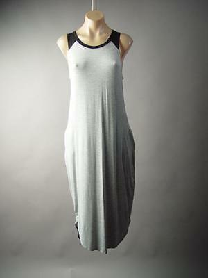 Heather Gray Casual Basic Sporty Jersey Baseball Tee Tank 176 mv Dress S M L - Baseball Jersey Dress