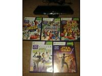 Xbox kinnect plus 5 games