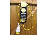 110v RCD consumer unit/ duel sockets