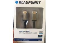 3 Metres Gold plated HDMI cable .