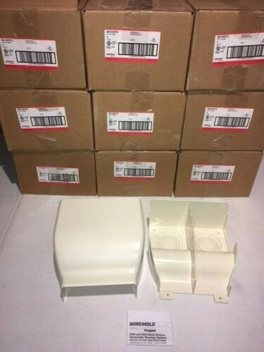 WIREMOLD LEGRAND 5410DFO- IVORY FIBERREADY ENTRANCE END (LOT OF 9)
