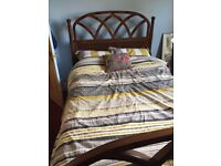 Edwardian Mahogany Double Bed with mattresses included