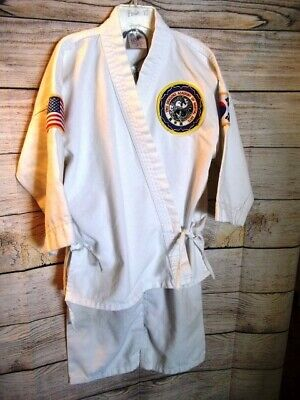 Martial Arts Taekwondo Karate Coat and Pants for Halloween Costume Size 000