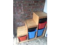 IKEA Trofast storage units including boxes