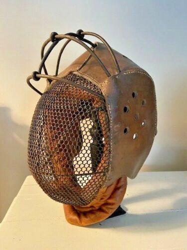 Antique academic fencing mask  ( Mensur / sabre fencing) )  late 19th
