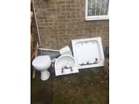 free to collect sink toilet and shower tray