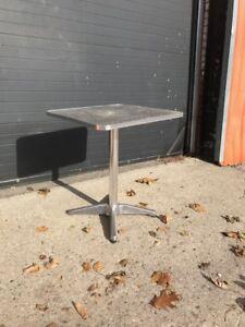 ALUMINUM BAR/BISTRO/PATIO TABLES