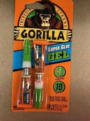 Super Glue Twin Pack Gorilla Glue 2 Tubes Gel 3g Each 7820002