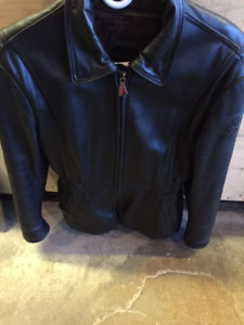 Ladies Leather Motorcycle Jacket & Chaps