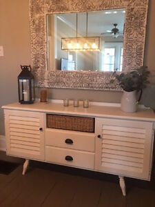 Refinished White Buffet