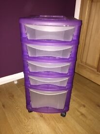 5 Drawer Storage on Wheels