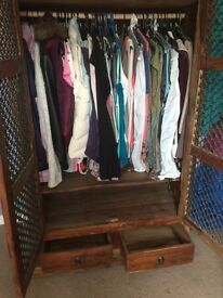 Double wooden wardrobe very good condition