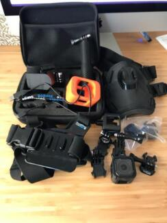 USED Black GoPro Hero PLUS various accessories and case