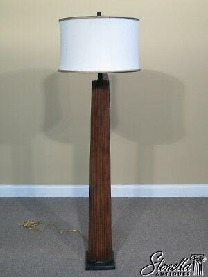 L41343: THEODORE ALEXANDER 2100-032 Tall Mahogany Column Floor Lamp ~ NEW ()