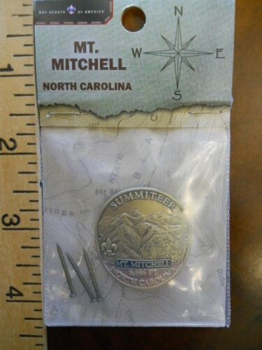 BOY SCOUT MT. MITCHELL SUMMITEER HIKING STAFF MEDALLION #24098(NEW IN PACKAGE)