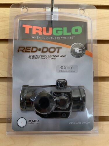 New Truglo Red Dot Sight 30mm Scope 5 MOA TG8030P