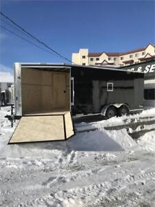 NEW 2019  7' X 21' DRIVE IN/OUT SNOW TRAILER