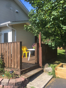 2 bedroom basement apartment in CBS with above ground entrance