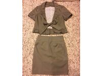 Designer Hallhuber trend Ladies casual formal suit jacket & skirt size 36, paypal accept