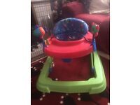 Ride-On baby walker with activites