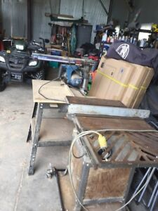 Table saw and Radial arm saw