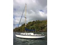 Fab cruising yacht. Sparkman and stephens she31 traveller.