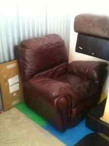 Large Leather Recliner Chair