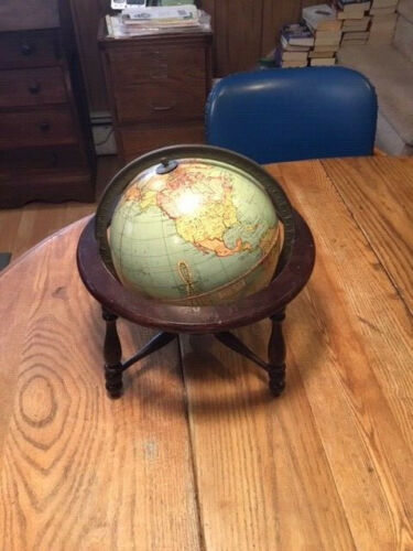 antique original  8  inch World globe - Peerless - Weber Costello 1920