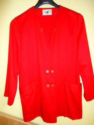 Jacke Blazer Kostümjacke Damenjacke Gr.L  v.Elly Z rot gut erhalten,Polyest.Visk